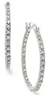 Macys Victoria Townsend Sterling Silver Diamond Hoop Earrings