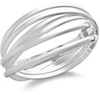 Macys Touch of Silver Set Of Six Interlocking Bangles