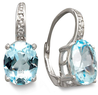 Macys Victoria Townsend Sterling Silver Blue Topaz (7 ct. t.w.) Earrings