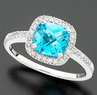 Macys 14k White Gold Blue Topaz Ring