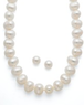 Macys Pearl Cultured Freshwater Pearl Strand and Earrings Set