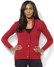 Macys Lauren Ralph Lauren Long-Sleeve Shawl-Collar Cable-Knit Cardigan