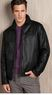 Macys Perry Ellis Men's Leather Jacket