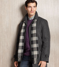 Macys London Fog Men's Wool Coat w/ Scarf