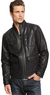 Macys INC International Concepts Faux Leather Bomber Jacket