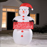 Big Lots 8' LED Color Changing Inflatable Snowman