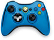 GameStop Xbox 360 Blue Chrome Wireless Controller