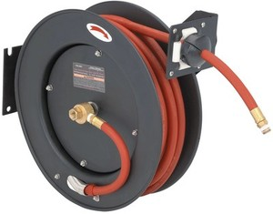 "Central Pneumatic 50 Ft. Retractable Air/Water Hose Reel With 3/8"" Hose"