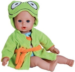 "Adora Bathtime Blue Eyes Baby 13"" Doll - Frog"