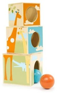 Skip Hop Giraffe Safari Nest and Play Blocks, 18 Months Plus