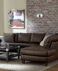 Milano Leather 2 Piece Sectional