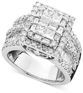 3 ct. tw. Diamond Ring in 14k White Gold