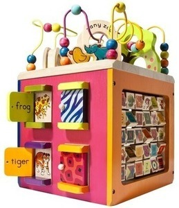 Zanty Zoo Wooden Activity Cube