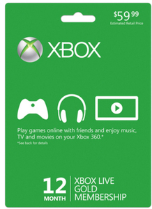 12 Month Live Gold Subscription (Xbox 360)