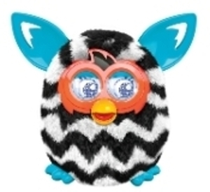 Furby Boom - Black/White Zigzag Stripes
