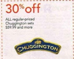 Chuggington Sets $59.99+ Coupon