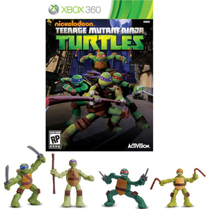 "Teenage Mutant Ninja Turtle Bundle with 2"" Figures (Xbox 360)"