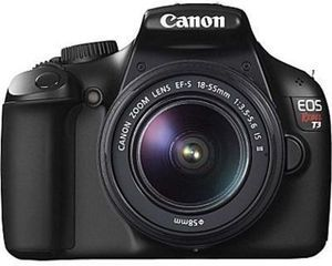 Canon EOS Rebel T3 12.2MP SLR Digital Camera w/ EF-S 18-55mm Lens + Free Memory Card  - Black