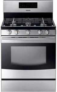 "Samsung 30"" 5.8 cu. ft. Gas Range w/ 5 Burner Cooktop and Griddle"