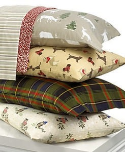 Martha Stewart Collection Bedding Novelty Flannel Full Sheet Set