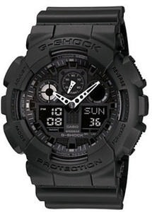 G-Shock Men's Watch Black Resin Strap GA100-1A1 + Free Flash Drive