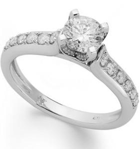14k White Gold Diamond 1 ct. tw. Halo Engagement Ring