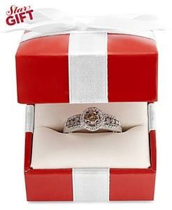3/4 ct. tw. Le Vian Chocolate and White Diamond Ring in 14k White Gold