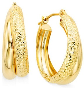 10k Gold Double Hoop Earrings
