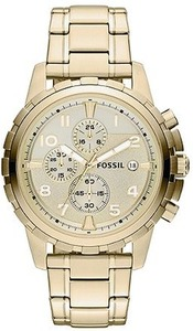 Fossil FS4867 Men's Chronograph Gold-Tone Watch