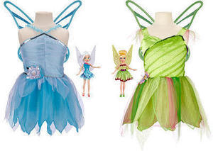 Fairies Tink and Peri 9-inch Doll with 2 Dress Combo Pack