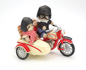 Calico Critters Motorcycle and Sidecar Playset
