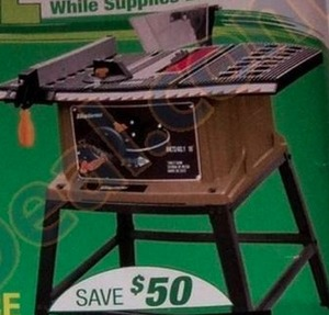 "10"" Benchtop Table Saw With Stand"