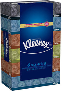 Kleenex Facial Tissue 6-Pack w/ Card