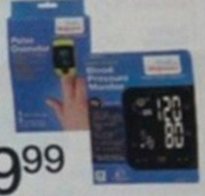 Arm Blood Pressure Monitor or Pulse Oximeter w/ Card