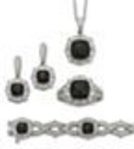 1/5 Ct. T. W. White and Color Black Diamond 4-Pc. Jewelry Set