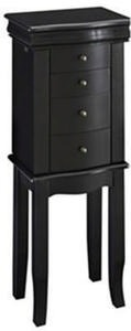 Small Ebony Jewelry Armoire