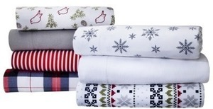 Any Size Holiday Flannel Sheet Set