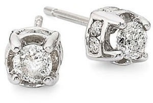 1/2 ct. tw. Diamond Stud Earrings in 10K White Gold