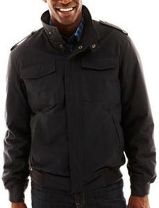 Men's Claiborne Dobby Tech Bomber Jacket