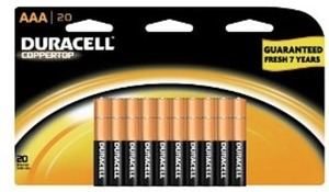 Duracell 20-pk. Coppertop AAA Batteries (After Bonus Rewards)