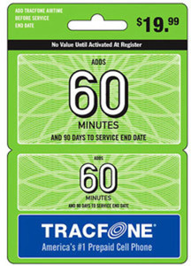 TracFone 60 Minutes Wireless Airtime Card