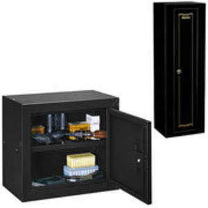 Gun Cabinet + Locking accessory box