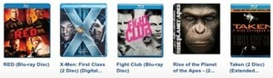 Choose From 160 Blu-Ray DVD Titles