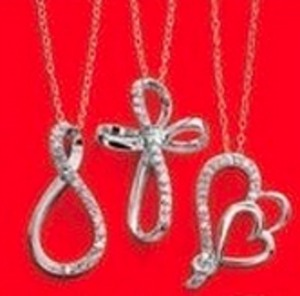 1/10 ct t.w. Sterling Silver Diamond Pendant