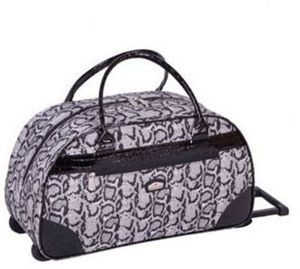 "Gloria Vanderbilt 20"" Carry-on Rolling Tote"