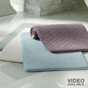 "Memory Foam 17""x24"" Basketweave Bath Rug"