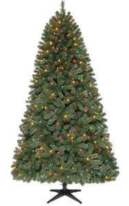 7.5' Quick Set Pre-Lit Wesley Pine Christmas Tree - Multicolor