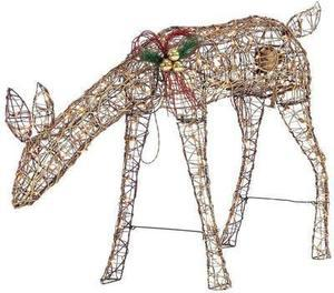 Home Accents Holiday 34 in. Grapevine Grazing Doe with Animation