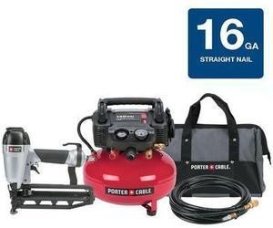 Porter Cable 6-Gallon Compressor & Nailer Combo Kit