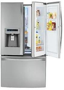 Kenmore Elite 72373 29 cu. ft. Grab-N-Go Stainless Steel French Door Bottom Freezer Refrigerator